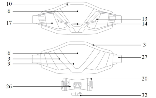Mystic Majestic Harness Features Diagram