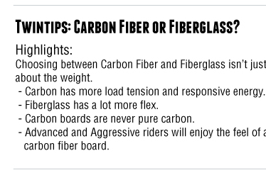Jeff's Tech Talk - Carbon Fiber vs. Fiberglass Kiteboarding Twintips