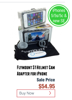 Flymount S1 Helmet Cam Adapter for iPhone