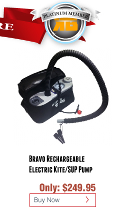 Kiteboarding Kite Pump - Bravo BTP Rechargeable Electric Kite/SUP Pump