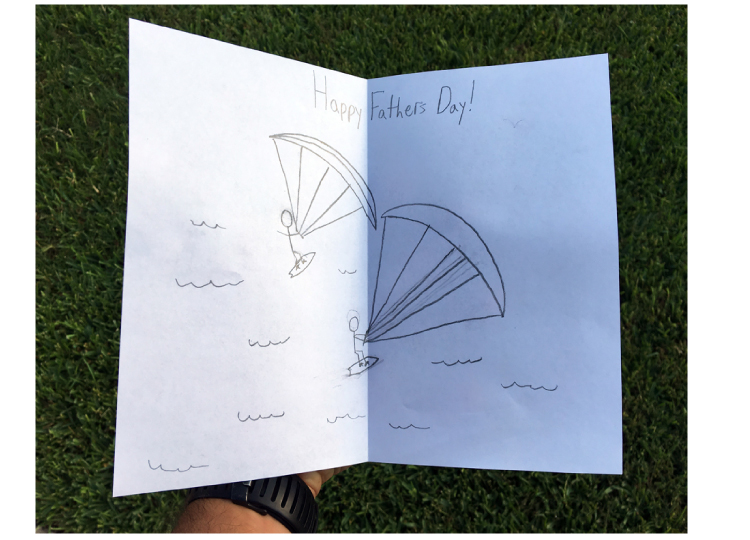 Kiteboarding Happy Father's Day Card