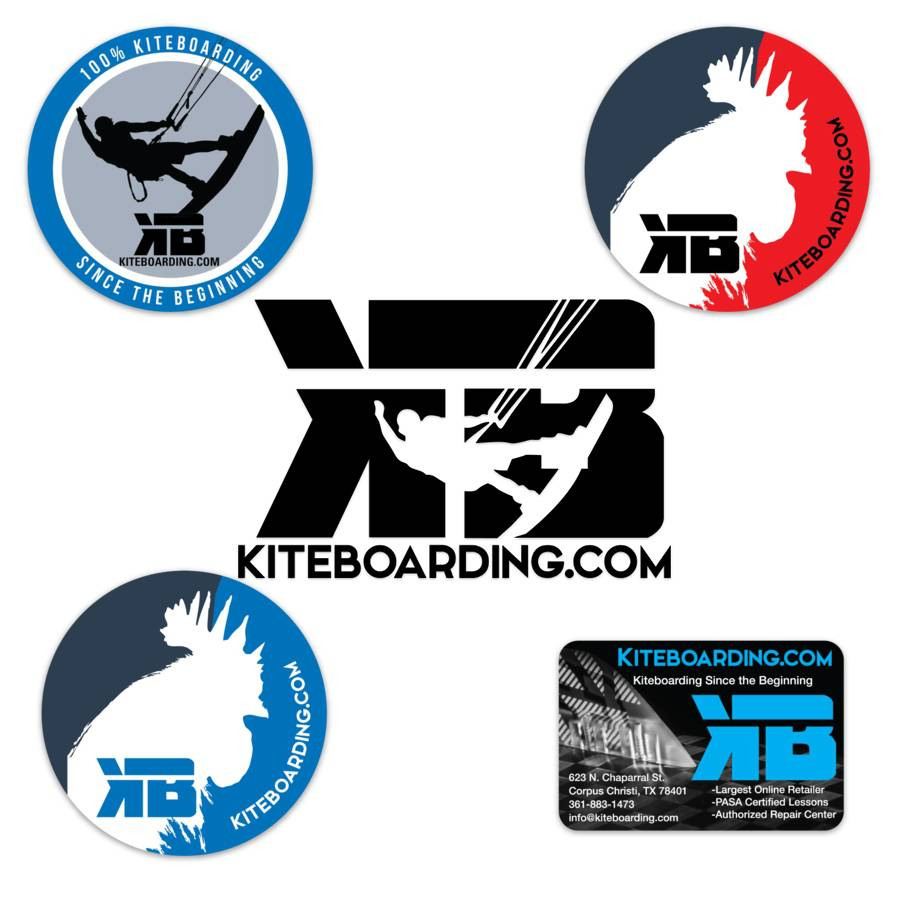 Kiteboarding com Sticker Pack