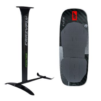 Crazyfly Master Foil and F-Lite Full Carbon Hydrofoil Board Package