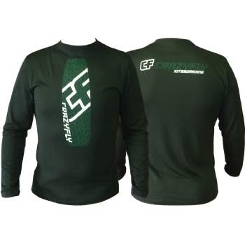 Crazyfly Outlines Long Sleeve Water Jersey - Forest Green - 60% Off