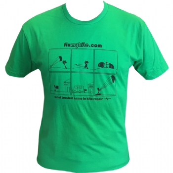 FixMyKite Comic Panel T-Shirt Green
