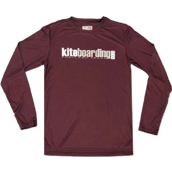 Kiteboarding.com Long Sleeve Water Jersey - Burgandy