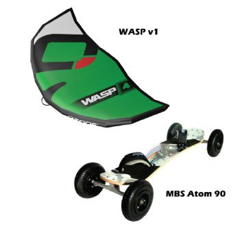 MBS Atom 90 Mountainboard and Ozone WASP v1