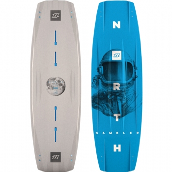 2018 North Gambler Twintip Kiteboard - Wakestyle / Park Riding - 20% Off