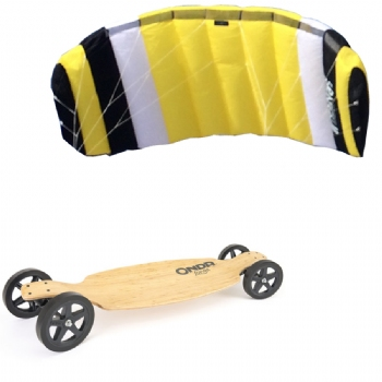Onda Longboard Skateboard and Trainer Kite Package
