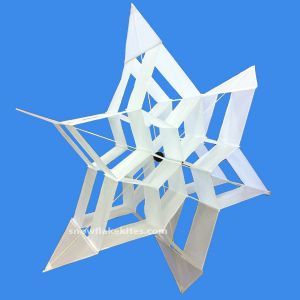 Shooting Star Snowflake Kite