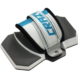 2015 Crazyfly QuickFix II Bindings with white/blue Straps