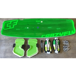 DEMO 2014/2015 Crazyfly Shox Green 132x41 Twintip Kiteboard