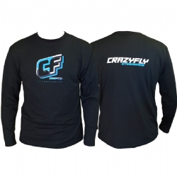 Crazyfly Dynamic Long Sleeve Water Jersey - Black