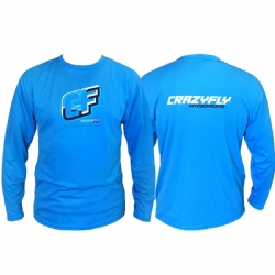 Crazyfly Dynamic Long Sleeve Water Jersey - Blue