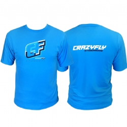 Crazyfly Dynamic Short Sleeve Water Jersey - Blue