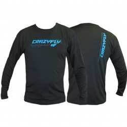 Crazyfly Long Sleeve Water Jersey - Black