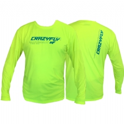 Crazyfly Long Sleeve Water Jersey - Yellow