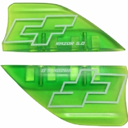 Crazyfly 5cm Razor Fins, Green (set of 4 w/ screws)