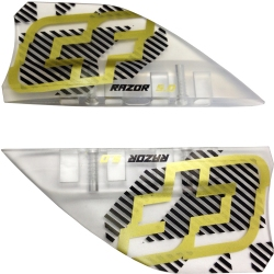 Crazyfly 5cm Razor Fins, LTD (set of 4 w/ screws)
