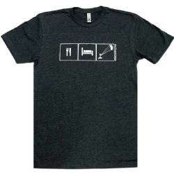 Eat, Sleep, Kite - Kiteboarding T-Shirt - Charcoal