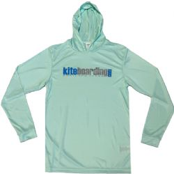 Kiteboarding.com Hooded Long Sleeve Water Jersey - Mint