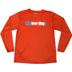 Kiteboarding.com Long Sleeve Water Jersey - Athletic Orange