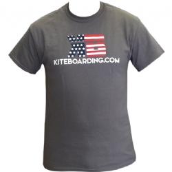 Kiteboarding.com Patriotic T-Shirt - Charcoal