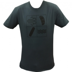 Kiteboarding Elements T-Shirt Blue 1- Small Left!
