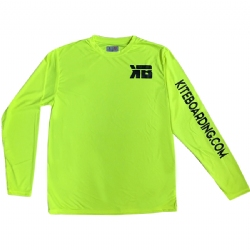 Kiteboarding.com Long Sleeve Water Jersey - Yellow