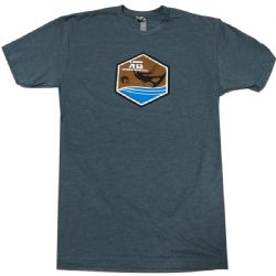 Kiteboarding.com Full Color Kiter Badge T-Shirt  Blue