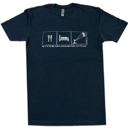Kiteboarding.com Eat, Sleep, Kite T-Shirt Blue