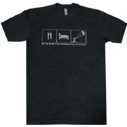 Kiteboarding.com Eat, Sleep, Kite T-Shirt Grey
