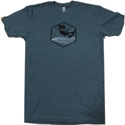Kiteboarding.com Kiter Badge T-Shirt Blue
