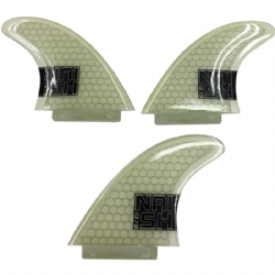 Naish Surfboard Thruster Fins, Clear (set of 3)