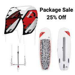 2020 Reedin Super Model Kite w/Dreamstick Bar and No Brainer Surfboard - 25% Off - Complete Package