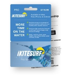 iKitesurf Pro Plan Membership Card (WeatherFlow)